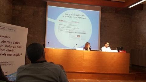 Ponència de l'Oriol Roselló, de l'equip de dades obertes de la Diba